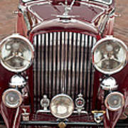 1934 Bentley 3.5-litre Drophead Coupe Grille Poster