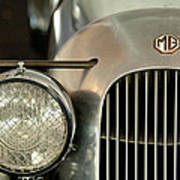 1934 Mg Pa Midget Supercharged Special Speedster Grille Poster