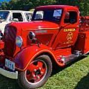 1935 Dodge Firetruck Poster