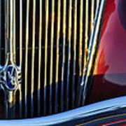1936 Ford Phaeton V8 Grille Emblem Poster