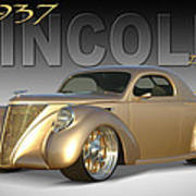 1937 Lincoln Zephyr Poster