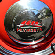 1937 Plymouth Hubcap Poster