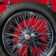 1938 Mg Ta Spare Tire Poster