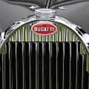 1939 Bugatti Type 57 Galibier Sports Saloon Hood Emblem Poster