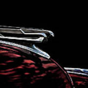 1940 Chevy Hood Ornament Take 2 Poster
