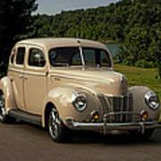 1940 Ford Deluxe Sedan Hot Rod Poster