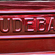 1947 Studebaker Tail Gate Cherry Red Poster