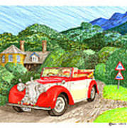 1948 Alvis English Countryside Poster