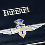 1950 Ferrari Carrozz Touring Milano Emblem Poster