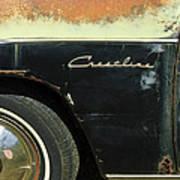 1950 Ford Crestliner Wheel Emblem Poster
