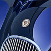 1951 Jaguar Proteus C-type Grille Emblem 4 Poster by Jill Reger