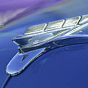 1951 Plymouth Hood Ornament Poster