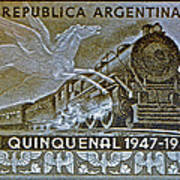 1951 Republica Argentina Stamp Poster