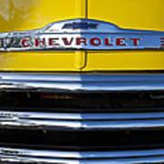 1952 Chevrolet Grille Emblem Poster