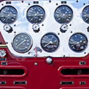 1952 L Model Mack Pumper Fire Truck Controls Poster