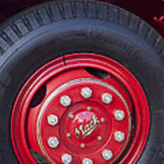 1952 L Model Mack Pumper Fire Truck Wheel 2 Poster