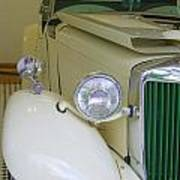 1952 Mg Roadster  Side View Poster