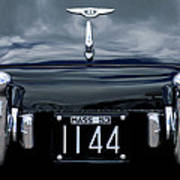 1953 Bentley Rear View License Plate Poster