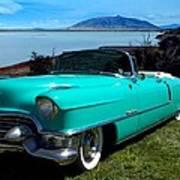 1954 Cadillac Convertible Poster