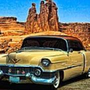 1954 Cadillac Coupe Deville Poster by Tim McCullough