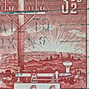 1954 Centenary Of Australian Telegraph Stamp Poster