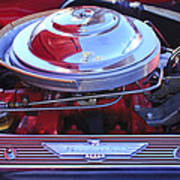 1955 Ford Thunderbird Engine Poster