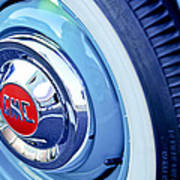 1955 Gmc Suburban Carrier Pickup Truck Wheel Emblem Poster