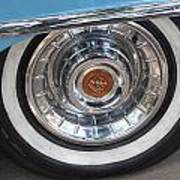 1956 Cadillac Front Wheel Poster