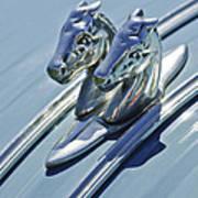 1956 Citroen 2cv Hood Ornament And Grille Emblem 3 Poster