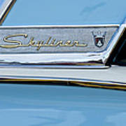 1956 Ford Fairlane Skyliner Emblem Poster