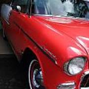 1956 Red And White Chevy Poster