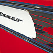 1957 Chevrolet Cameo Pickup Emblem Poster