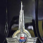 1957 Morris Minor 1000 Traveller Emblem Poster