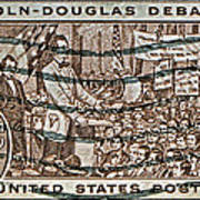 1958 Lincoln-douglas Debates Stamp Poster