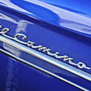 1959 Chevrolet El Camino Emblem Poster