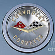 1959 Corvette Emblem Poster