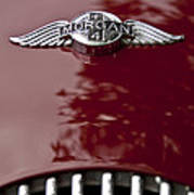 1960 Morgan Plus Four Drophead Coupe Hood Emblem Poster