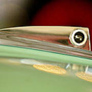 1961 Ford Galaxie Convertible Hood Ornament Poster