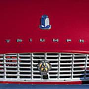 1961 Triumph Tr3a Roadster Grille Emblem Poster
