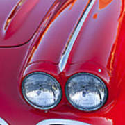 1962 Chevrolet Corvette Headlight Poster