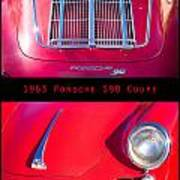 1963 Red Porsche S90 Coupe Poster Poster