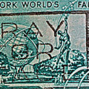 1964 New York World's Fair Stamp Poster
