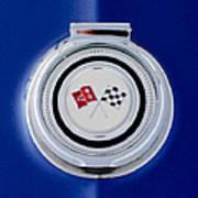 1965 Chevrolet Corvette Sting Ray Gas Cap Emblem Poster