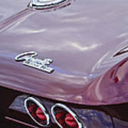 1965 Chevrolet Corvette Tail Light Poster