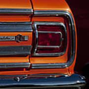 1965 Chevrolet Malibu Ss Taillight Emblem Poster
