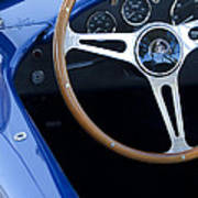1965 Cobra Sc Steering Wheel 2 Poster