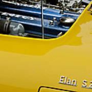1965 Lotus Elan S2 Engine Poster