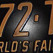 1965 New York World's Fair License Plate Poster