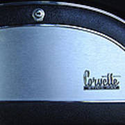 1967 Chevrolet Corvette Glove Box Emblem Poster by Jill Reger