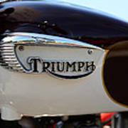 1967 Triumph Bonneville Gas Tank 1 Poster